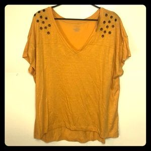 Lane Bryant Exclusive T shirt Top sz 18/20 Yellow